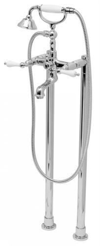 Gruppo vasca doccia bordo vasca a colonne a pavimento con kit doccia
